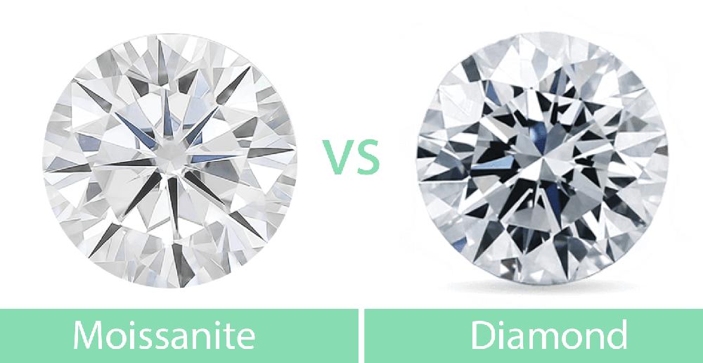 9fc458b5f6648 Moissanite vs diamond side by side - BBBGEM