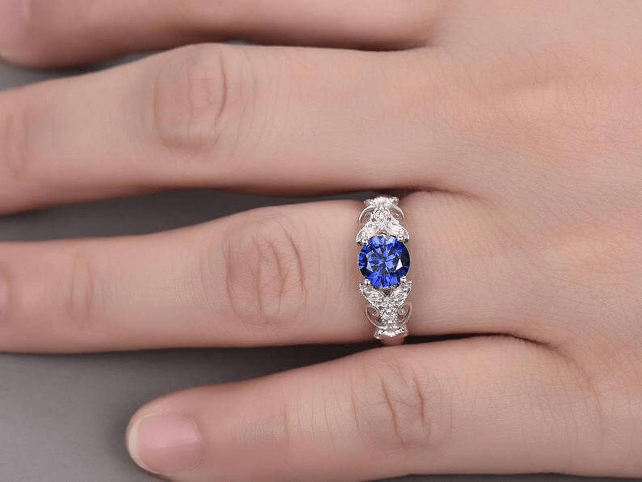 apphire engagement rings